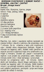 DIOKLECIJANOVA AMFORA 2005 recept Bozidar Cvjetkovic & Robert Racic Galija Cavtat Snaga mora