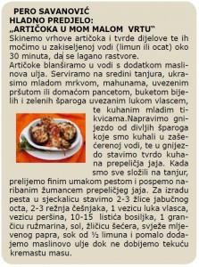 DIOKLECIJANOVA AMFORA 2005 recept Pero Savanovic - Articoka u mom malom vrtu